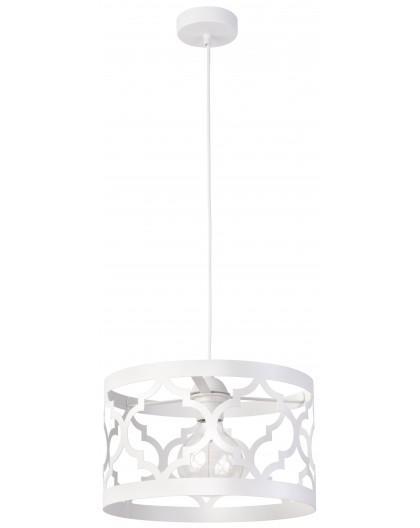 Lampe Deckenlampe Hängelampe Design Muster Lichteffekt MAROKO M Weiß 31591