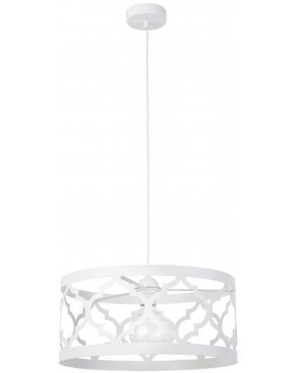 Lampe Deckenlampe Hängelampe Design Muster Lichteffekt MAROKO L Weiß 31589
