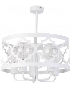 Lampe Deckenlampe Kronleuchter Design Muster Lichteffekt MAROKO Weiß 5 31587