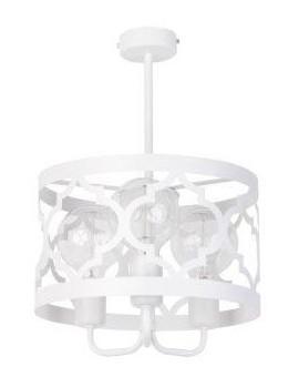 Lampe Deckenlampe Kronleuchter Design Muster Lichteffekt MAROKO Weiß 3 31585