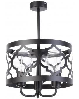 Lampe Deckenlampe Kronleuchter Design Muster Lichteffekt MAROKO Schwarz 3 31584