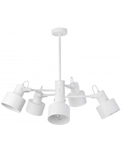 Lampe Deckenlampe Kronleuchter Metall Modern METRO Weiß 5 31581
