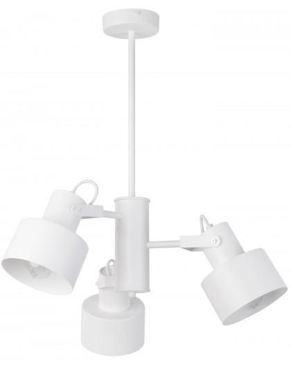 Lampe Deckenlampe Kronleuchter Metall Modern METRO Weiß 3 31579