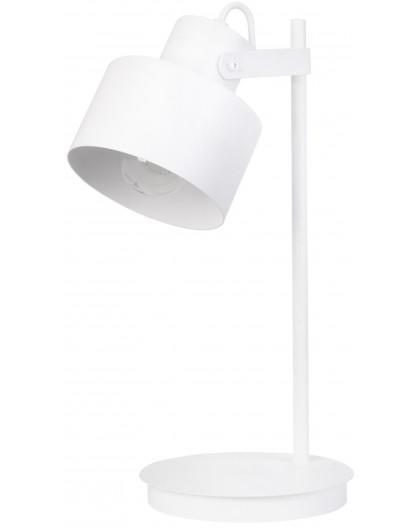 Lampe Tischlampe Nachtlampe Metall Modern METRO Weiß 50124