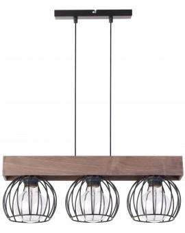 Hanging lamp MILAN brown 3 31574 SIGMA