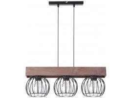 Hanging lamp MILAN brown 3 31574 SIGMA