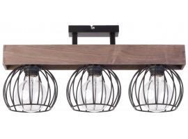 Lampe Deckenlampe Deckenleuchte Drahtlampe Holz Design MILAN Braun 31573