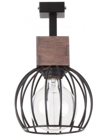Lampe Deckenlampe Deckenleuchte Drahtlampe Holz Design MILAN Braun 31569