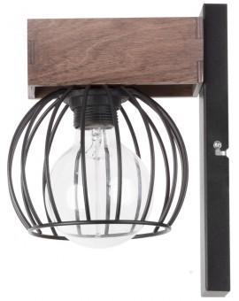Lampe Wandlampe Wandleuchte Drahtlampe Holz Design MILAN Braun 31577