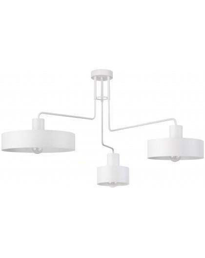 Lampe Deckenlampe Kronleuchter Modern Design VASCO Weiß 3-flg 31554