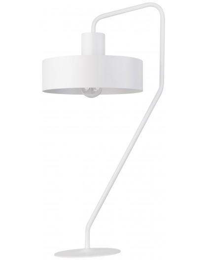 Lampe Tischlampe Nachtlampe Modern Metall JUMBO Weiß 50109