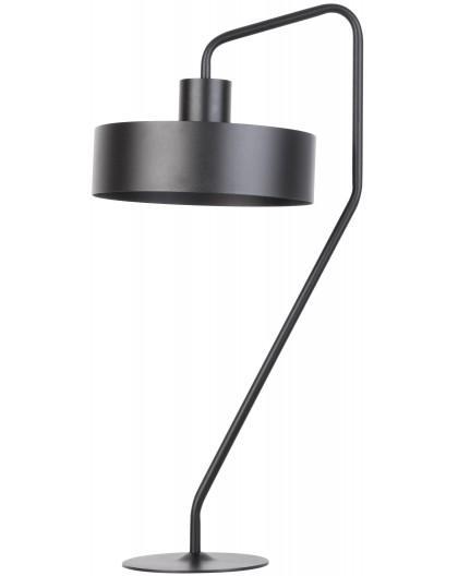 Lampe Tischlampe Nachtlampe Modern Metall JUMBO Schwarz 50108