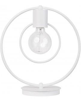 Lampe Tischlampe Nachtlampe Drahtlampe Loft FREDO Rund Weiß 50105