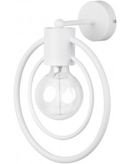 Lampe Wandlampe Wandleuchte Drahtlampe Loft FREDO Rund Weiß 31528