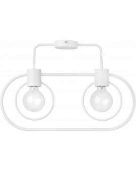 Lampe Deckenlampe Deckenleuchte Drahtlampe Loft FREDO Rund Weiß 31520