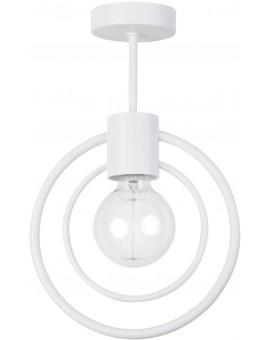 Lampe Deckenlampe Deckenleuchte Drahtlampe Loft FREDO Rund Weiß 31516