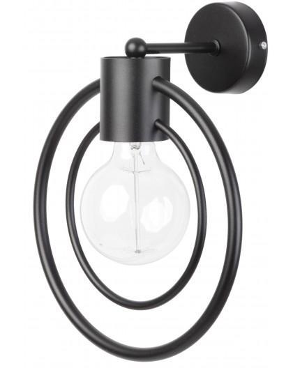 Lampe Wandlampe Wandleuchte Drahtlampe Loft FREDO Rund Schwarz 31527