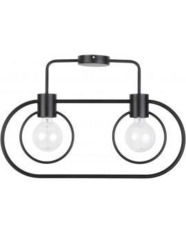 Lampe Deckenlampe Deckenleuchte Drahtlampe Loft FREDO Rund Schwarz 31519