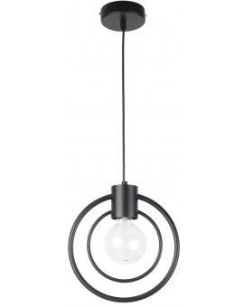 Lampe Deckenlampe Hängelampe Drahtlampe Loft FREDO Rund Schwarz 31517