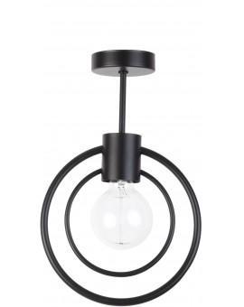 Lampe Deckenlampe Deckenleuchte Drahtlampe Loft FREDO Rund Schwarz 31515
