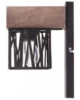 Wandlampe Wandleuchte Modern Design Holz Muster DALI Schwarz 31485