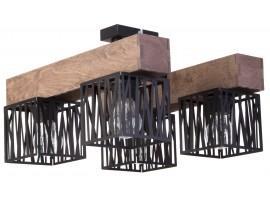 Deckenlampe Deckenleuchte Modern Design Holz Muster DALI Schwarz 31483