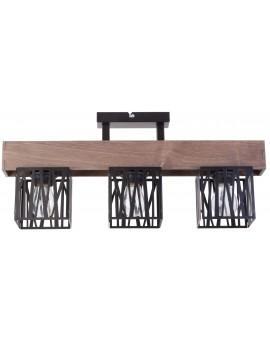 Deckenlampe Deckenleuchte Modern Design Holz Muster DALI Schwarz 31481