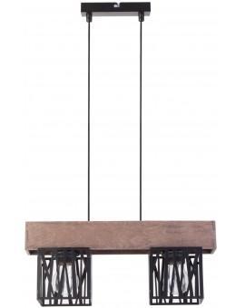 Hängelampe Pendelleuchte Modern Design Holz Muster DALI Schwarz 31480