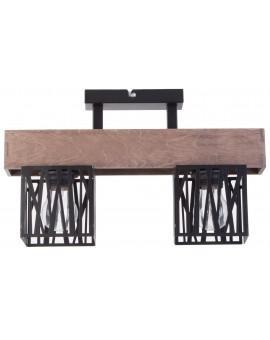 Deckenlampe Deckenleuchte Modern Design Holz Muster DALI Schwarz 31479