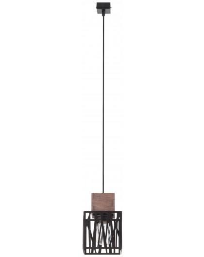 Hängelampe Pendelleuchte Modern Design Holz Muster DALI Schwarz 31478