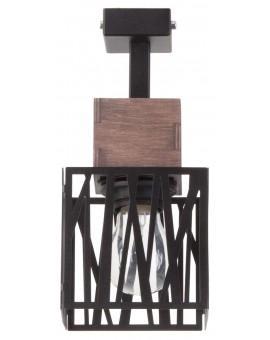Deckenlampe Deckenleuchte Modern Design Holz Muster DALI Schwarz 31477