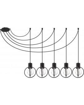 Hanging lamp Aura round 5 black mat 31086 Sigma