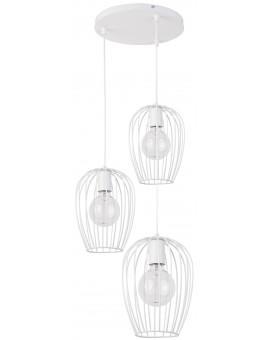 Hanging lamp BORA KOŁO white 3 31466 SIGMA