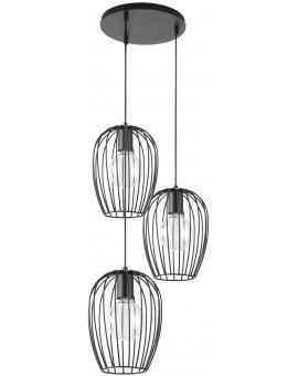 Hanging lamp BORA KOŁO black 3 31465 SIGMA
