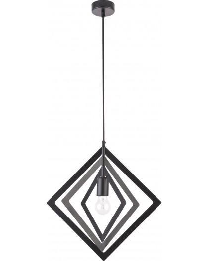 Lampe Deckenlampe Hängelampe Modern Design Metall Trik S Raute Schwarz 31178