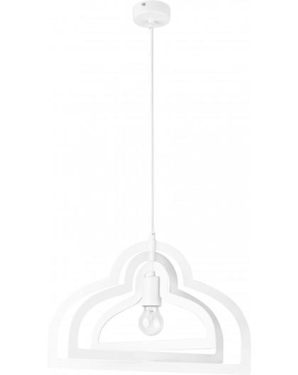 Lampe Deckenlampe Hängelampe Modern Design Metall Trik S Loft Weiß 31188