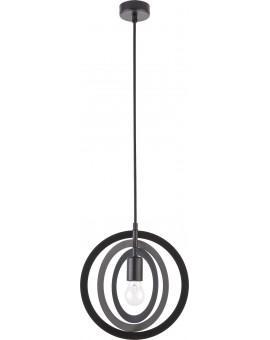 Lampe Deckenlampe Hängelampe Modern Design Metall Trik S Kreis Schwarz 31174