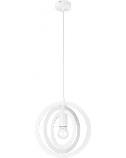 Lampe Deckenlampe Hängelampe Modern Design Metall Trik S Kreis Weiß 31176