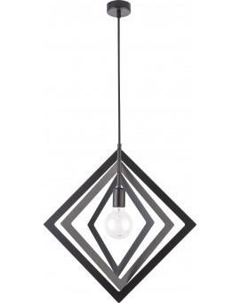 Lampe Deckenlampe Hängelampe Modern Design Metall Trik M Raute Schwarz 31177