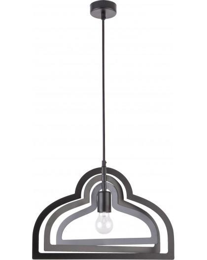 Lampe Deckenlampe Hängelampe Modern Design Metall Trik M Loft Schwarz 31185