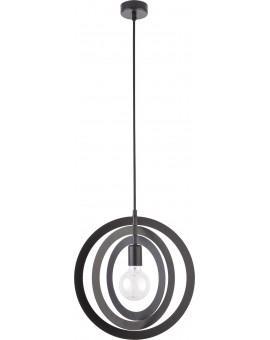 Lampe Deckenlampe Hängelampe Modern Design Metall Trik M Kreis Schwarz 31173