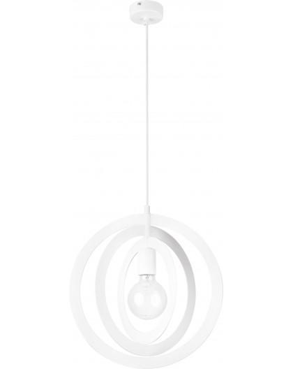 Lampe Deckenlampe Hängelampe Modern Design Metall Trik M Kreis Weiß 31175