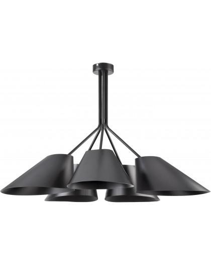 Lampe Deckenlampe Kronleuchter Modern Design Metall Lora 5-flg Schwarz 31051