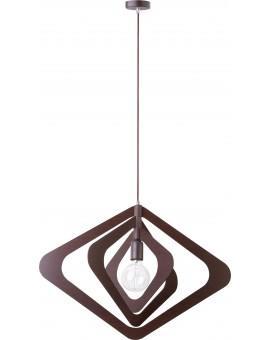 Lampe Deckenlampe Hängelampe Modern Design Holz Glam Raute Wenge 31283