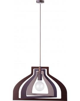 Lampe Deckenlampe Hängelampe Modern Design Holz Glam Loft Wenge 31365