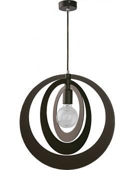 Lampe Deckenlampe Hängelampe Modern Design Holz Glam Kreis Wenge 31366
