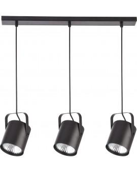 Deckenlampe Hängelampe Modern Design Metall Flesz E27 3-flg Schwarz 31083