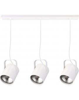 Deckenlampe Hängelampe Modern Design Metall Flesz E27 3-flg Weiß 31150