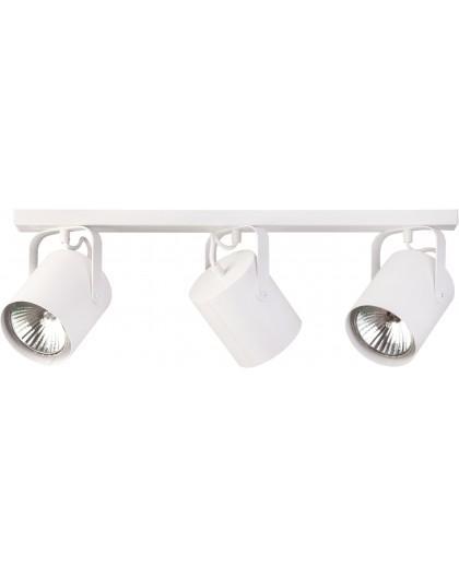 Deckenlampe Deckenleuchte Spot Modern Design Metall Flesz E27 3-flg Weiß 31117