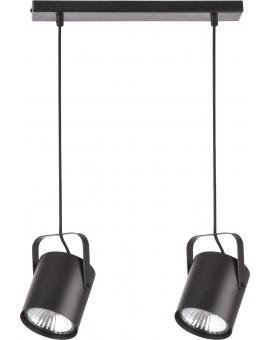 Deckenlampe Hängelampe Modern Design Metall Flesz E27 2-flg Schwarz 31242